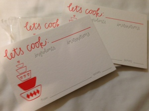 Ink Meets Paper Let's Cook Recipe Cards