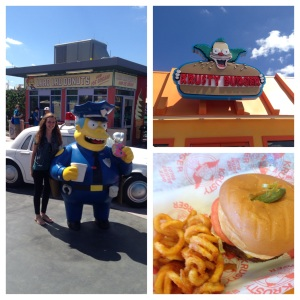 Krusty Burger in Springfield for Lunch