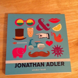 Jonatha Adler sticker book, purchased from Papyrus