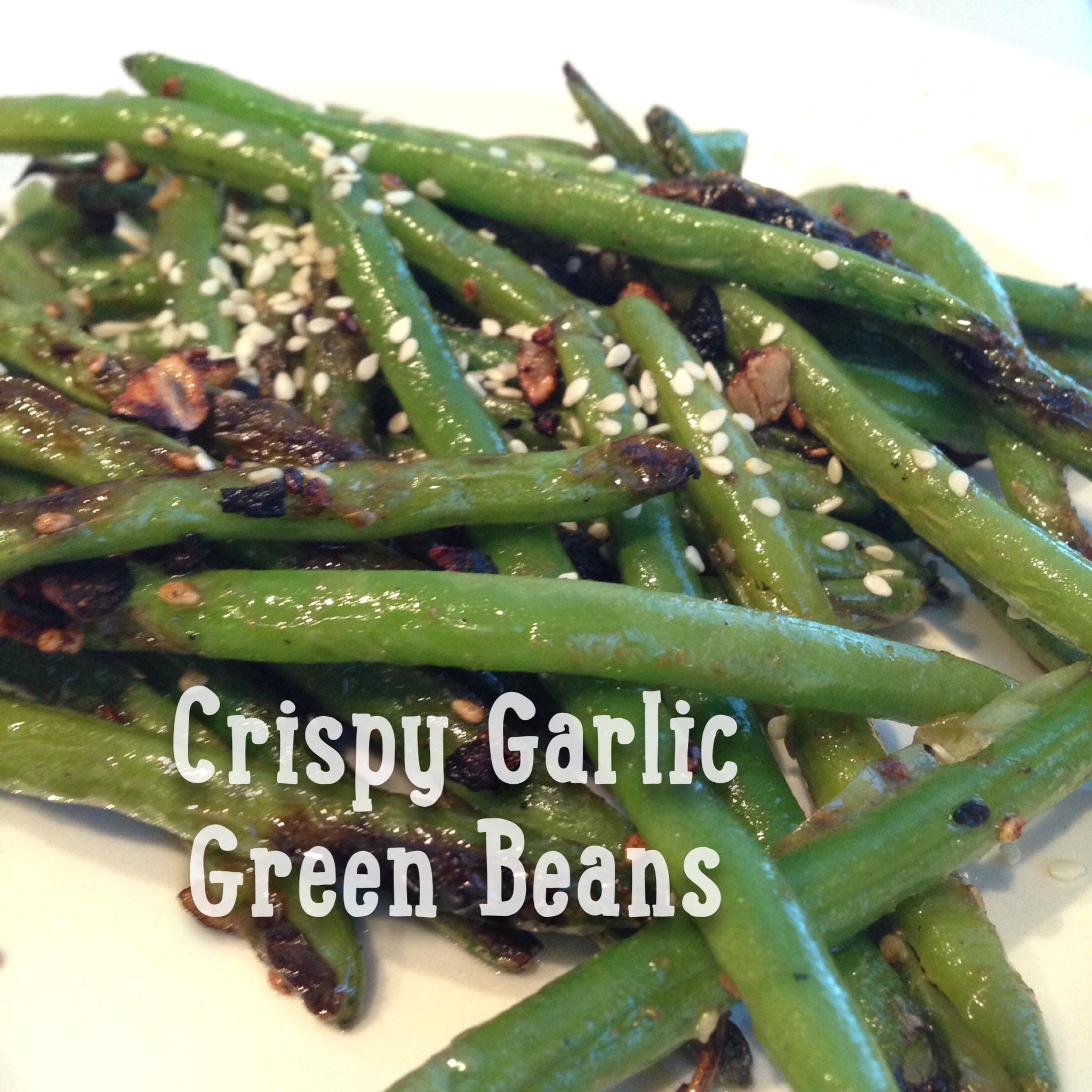 how to make crispy garlic green beans